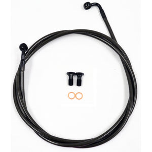 "BRAKE LINE MIDNIGHT STAINLESS FOR 18""-20"" APE HANGERS"