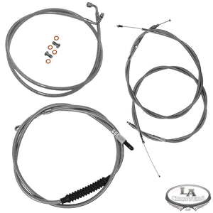 "CABLE KIT 12-14"" APE BAR LENGTH STAINLESS STEEL HD"