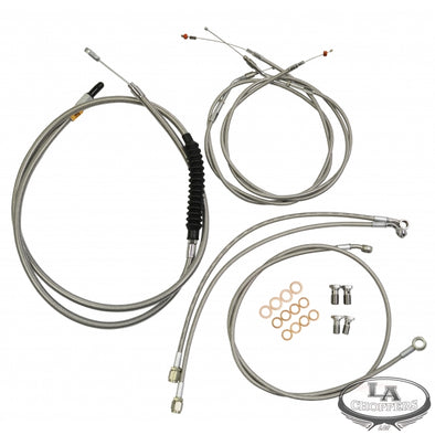 HANDLEBAR CABLE/BRAKE & CLUTCH LINE/WIRE KITS AND COMPONENTS / STAINLESS STEEL / NATURAL