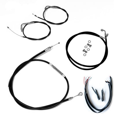 HANDLEBAR CABLE/BRAKE & CLUTCH LINE/WIRE KITS AND COMPONENTS / STAINLESS STEEL|VINYL / BLACK