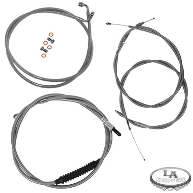 "CABLE KIT 12-14"" APE BAR LENGTH STAINLESS STEEL FOR NON ABS HD"