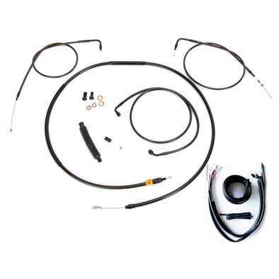 "CABLE AND BRAKE LINE KIT MIDNIGHT STAINLESS FOR 12""-14"" APE HANGERS"