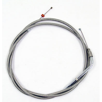 "THROTTLE CABLE STAINLESS BRAIDED FOR 18""-20"" APE HANGERS"