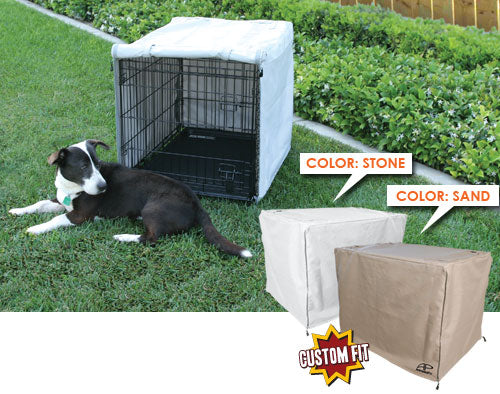 Dog Crate Cover for Basic Training™ Deluxe 2-Door Crate