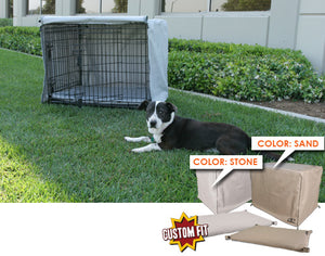 Dog Crate Cover & Pad Set for Precision Pet Deluxe Great Crate™ 3-Door Crate