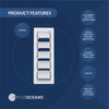 White Louvered Slotted Ventilators, 13-1/4 inches (Pair) FO-106-M2