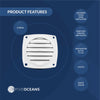 Louvered Flush Thru Vent, 3 inch White (Pair) FO-110-M2 - Five Oceans