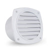 Louvered Hose Thru Vent, 4 inch White FO-111 - Five Oceans