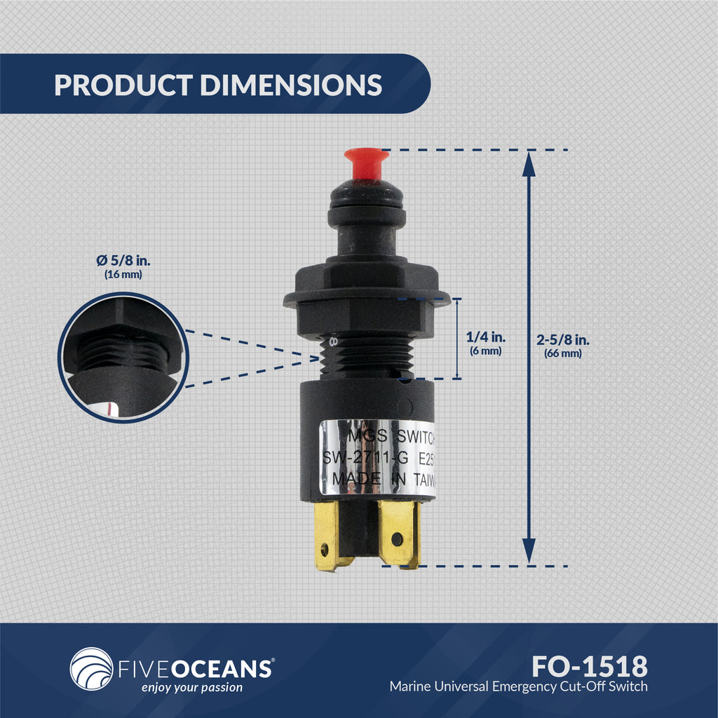 Universal Emergency Cut-Off Switch with Coiled Lanyard FO-1518– Five Oceans [ 1024 x 1024 Pixel ]