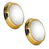 Brass LED Interior Dome Light w/ On-Off Switch, 6 inches Cool White (Pair) FO-2627-M2