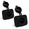 12V Receptacle Socket Panel Mount, Pair FO-2635-M2 - Five Oceans