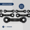 Nylon Bungee Deck Loops Tie Down Pad Eye for Boat Kayak Deck Rigging Kit (10 Pack)
