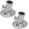 3/4 inches Flag Pole Stainless Steel Socket Top Mount (Pair) FO-3109-M2 - Five Oceans