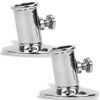 3/4 inches Flag Pole Stainless Steel Socket Top Mount (Pair) FO-3109-M2