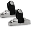 Bimini Top 180 degree Adjustable Angle Deck Swivel Hinge for Boat, Stainless Steel (Pair) FO-3113-M2