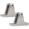 Stainless Steel Bimini Top Angled Deck Hinge 90 Degree, Pair FO-367-M2 - Five Oceans