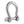 "Stainless Steel Bow Shackle Self Locking with captive Pin, 1/4"" FO-3676"