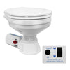 Marine Electric Toilet Small Bowl with Macerator Pump for Boats and RVs with Smart Flush Control, 12V FO-3869