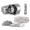 Atlantic 600 Horizontal Windlass Kit with Nylon Three Strand 200Ft Rope/Chain and Swivel FO-3930-C3