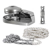Pacific 600 Vertical Windlass Kit with Nylon Three Strand 200Ft Rope/Chain and Swivel FO-3931-C3