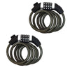 4FT Cable Combo Locks, Pair - Five Oceans