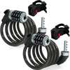 4FT Cable Combo Locks, Pair FO-3957-M2 - Five Oceans