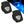 LED Blue Companion Way Light, Black (Pair) FO-4002-M2 - Five Oceans