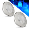 Interior Round LED Flush Mount Ceiling Light, Blue (Pair) FO-4135-M2