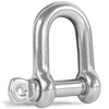 Captive Screw Pin D Shackle, Stainless Steel 1/4 inches FO-416