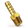 Brass Fuel Hose Barb 1/4 inches NPT Thread x 3/8 inches Hose FO-4277
