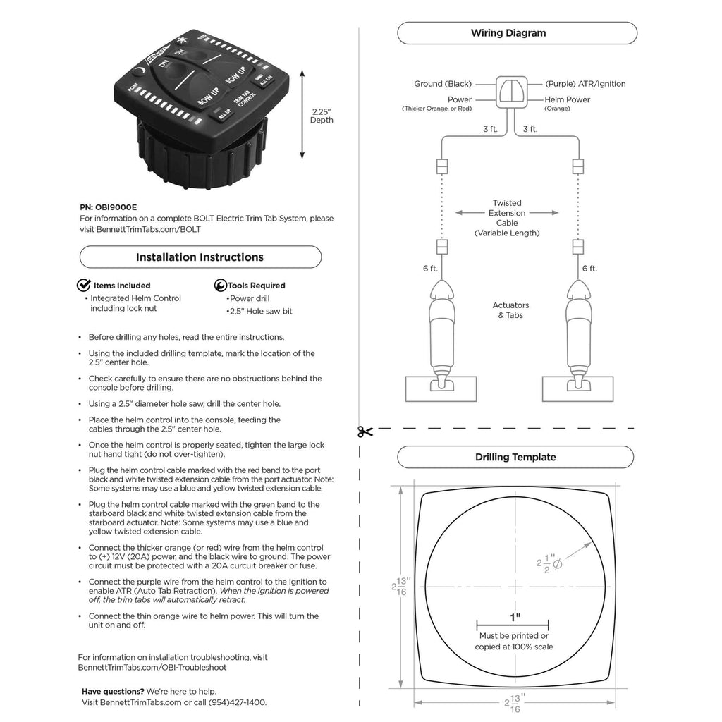 [SCHEMATICS_48IU]  Bennett Complete Kit BOLT Electric Trim Tab with NEW 2020 Integrated H–  Five Oceans   Bennett Trim Tabs Wiring Diagram      Five Oceans