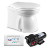 Marine and RVs Electric Toilet Medium Bowl with Quiet Flush Operation Medium Household Style Bowl, 12V FO-4427