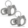 Swivel Eye Snap Shackle Quick Release Bail Rigging Sailing Boat Stainless Steel, 2-3/4 inches (Pair) FO-443-M2