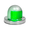 LED Boat Bow Navigation Deck Mount Starboard Green Stainless Steel Lights FO-4431