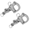 Tack Swivel Eye Snap Shackle, 5 inches (Pair) FO-448-M2 - Five Oceans