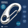 "Stainless Steel Spring Tack Hook, 2 3/4""  (Set of 2) FO-462-M2"