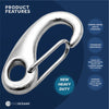 Stainless Steel Marine Snap Hook Egg Type, 2-3/4 inches FO-462 - Five Oceans