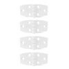 White Plastic Door Hinge, 2-7/8 x 1-3/8 inches (4-Pack) FO-79-M4 - Five Oceans