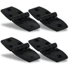 Black Plastic Door Hinge, 2-7/8 x 1-3/8 inches (4-Pack) FO-80-M4
