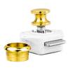 Polished Brass Keyless Push Button Latch FO-91 - Five Oceans