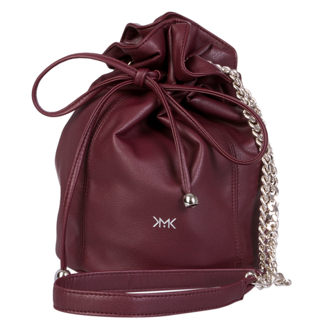 Sac bourse vegan Magnethik bordeau, Burgundy vegan purse bag, Magnethik par Importations Lou au Canada