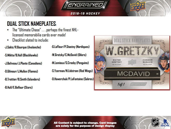 2018/19 Upper Deck Engrained Hockey - 1- Box Break - Random Number Block #2