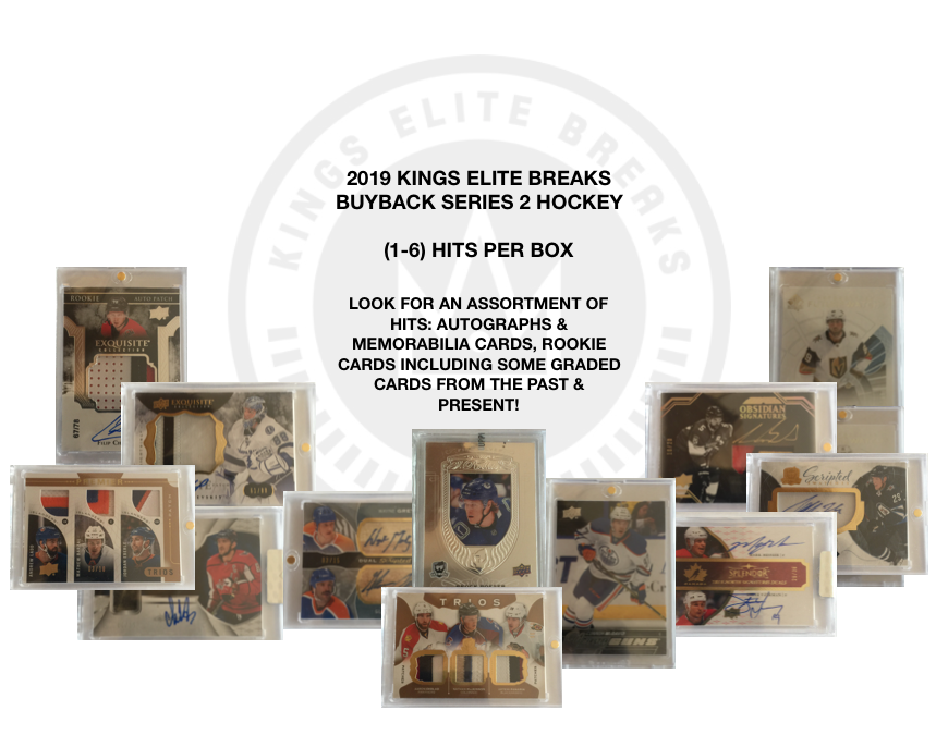 2019 KINGS ELITE BREAKS - BUYBACK SERIES 2 HOCKEY (HIGH END) - GRETZKY-MCDAVID-OVECHKIN - 2-BOX BREAK - RANDOM TEAMS #1 (AUTO JERSEY GIVEAWAY) $800+ CARD IN PRODUCT!!