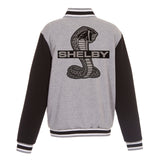 Shelby Embroidered Reversible Jacket in Grey/Black with