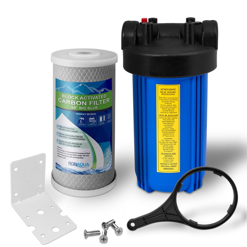 10 Inch Big Blue 5 Micron Activated Carbon Block Whole House Water Filter