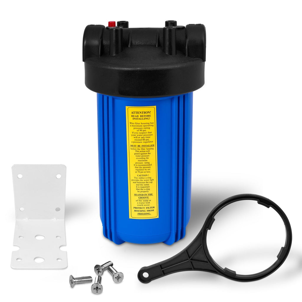 10 Inch Big Blue Whole House Water Filter Housing with Mounting Hardware
