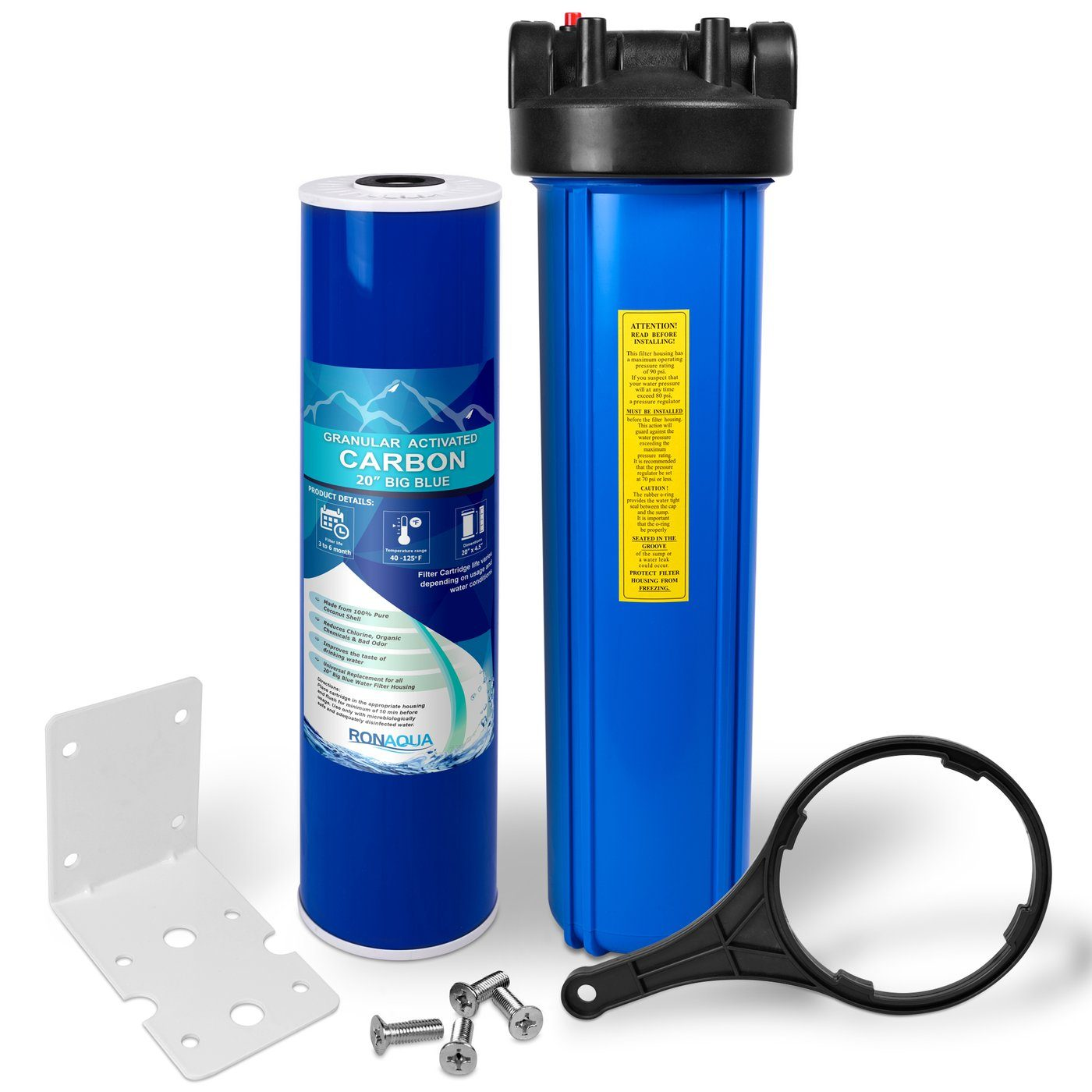 20 Inch Big Blue Granular Activated Carbon Whole House Water Filter