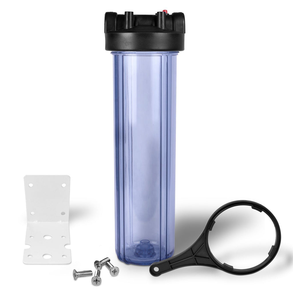 20 Inch Transparent Whole House Water Filter Housing with Mounting Equipment