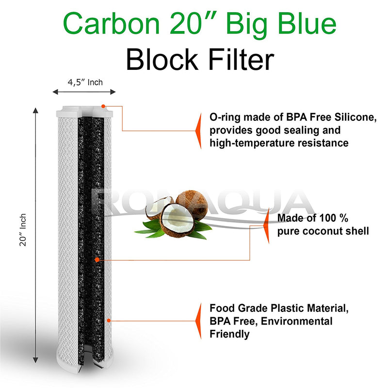 inside the carbon block water filter