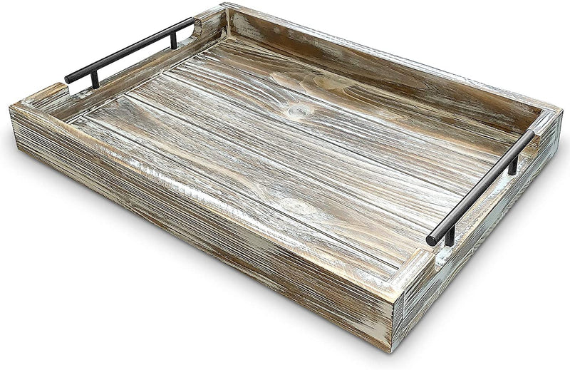 Decorative Large Rustic Wooden Tray